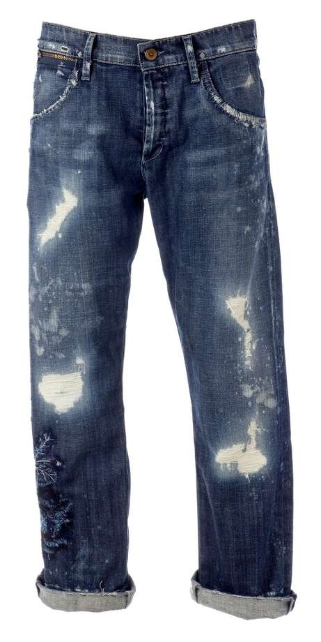 RIPPED JEANS. In 2012, a Pennsylvania high school decided clothing with holes or tears isn't proper attire for school because some students were ripping large holes in their pants and exposing their genitals. Full story. Photo: Simone Andress / Shutterstock