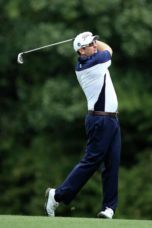 AUGUSTA, GA - APRIL 11:  Ben Curtis of the United States hits his second shot on the fifth hole during the first round of the 2013 Masters Tournament at Augusta National Golf Club on April 11, 2013 in Augusta, Georgia. Photo: David Cannon, Getty Images / 2013 Getty Images