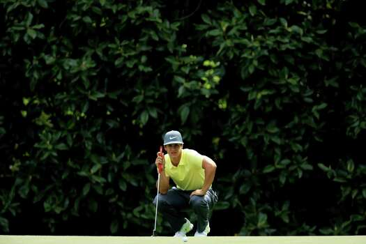 AUGUSTA, GA - APRIL 11:  Thorbjorn Olesen of Denmark lines up a putt on the fifth hole during the first round of the 2013 Masters Tournament at Augusta National Golf Club on April 11, 2013 in Augusta, Georgia. Photo: David Cannon, Getty Images / 2013 Getty Images
