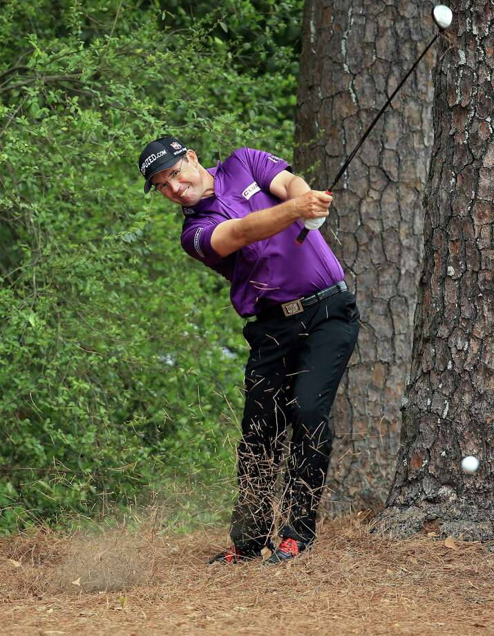 AUGUSTA, GA - APRIL 11:  Padraig Harrington of Ireland hits a shot on the fifth hole during the first round of the 2013 Masters Tournament at Augusta National Golf Club on April 11, 2013 in Augusta, Georgia. Photo: David Cannon, Getty Images / 2013 Getty Images
