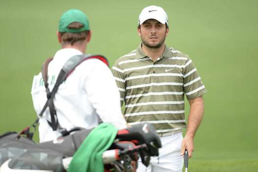 AUGUSTA, GA - APRIL 11:  Francesco Molinari of Italy lines up a putt on the second hole during the first round of the 2013 Masters Tournament at Augusta National Golf Club on April 11, 2013 in Augusta, Georgia. Photo: Harry How, Getty Images / 2013 Getty Images