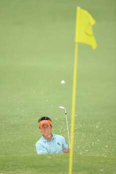 AUGUSTA, GA - APRIL 11:  Hiroyuki Fujita of Japan hits out of the bunker on the second hole during the first round of the 2013 Masters Tournament at Augusta National Golf Club on April 11, 2013 in Augusta, Georgia. Photo: Harry How, Getty Images / 2013 Getty Images