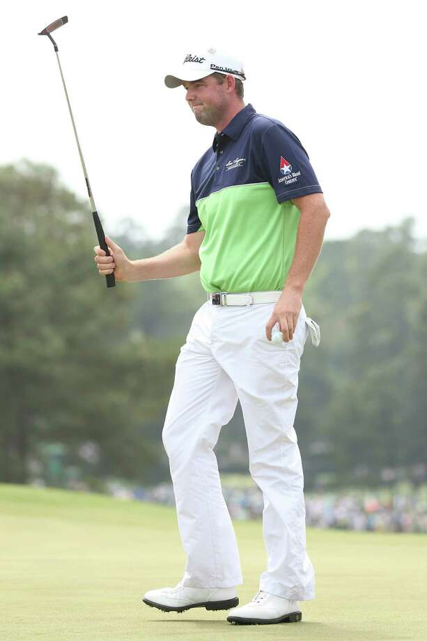 AUGUSTA, GA - APRIL 11:  Marc Leishman of Australia reacts on the 18th hole during the first round of the 2013 Masters Tournament at Augusta National Golf Club on April 11, 2013 in Augusta, Georgia. Photo: Andrew Redington, Getty Images / 2013 Getty Images