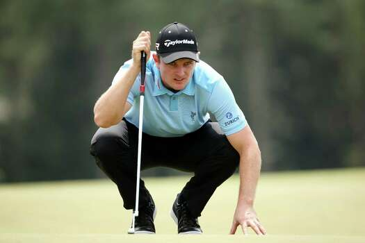 AUGUSTA, GA - APRIL 11:  Justin Rose of England lines up a putt on the 18th hole during the first round of the 2013 Masters Tournament at Augusta National Golf Club on April 11, 2013 in Augusta, Georgia. Photo: Andrew Redington, Getty Images / 2013 Getty Images