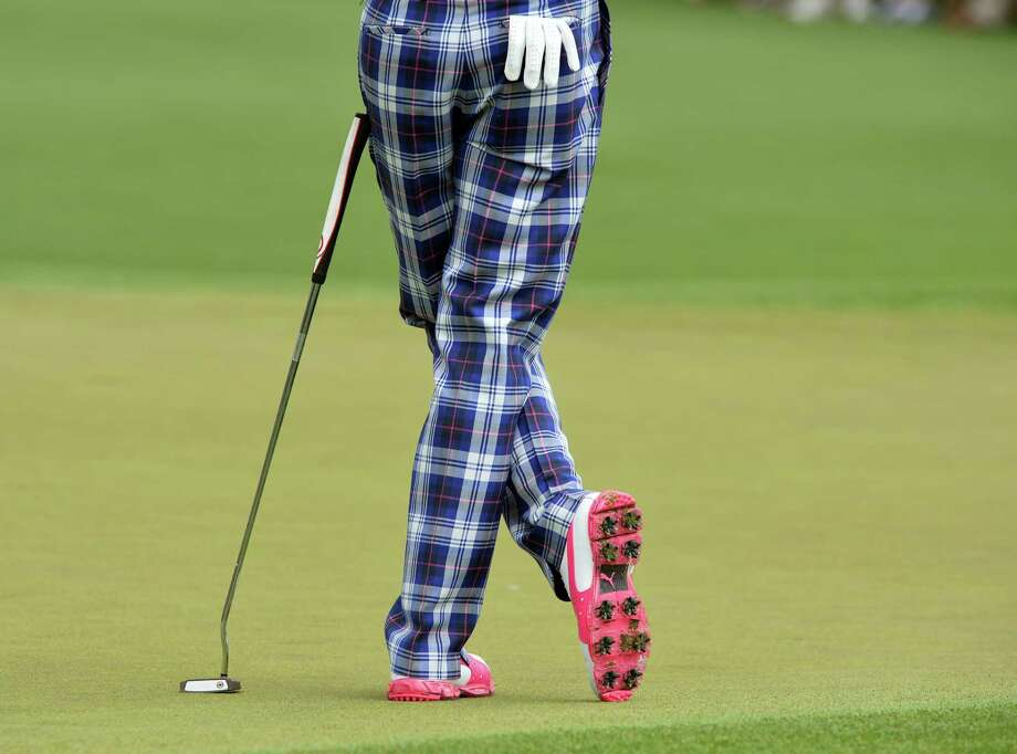 TOPSHOTS Ian Poulter of England during the first round of the 77th Masters golf tournament at Augusta National Golf Club on April 11, 2013 in Augusta, Georgia.    AFP PHOTO / JEWEL SAMADJEWEL SAMAD/AFP/Getty Images Photo: JEWEL SAMAD, AFP/Getty Images / AFP