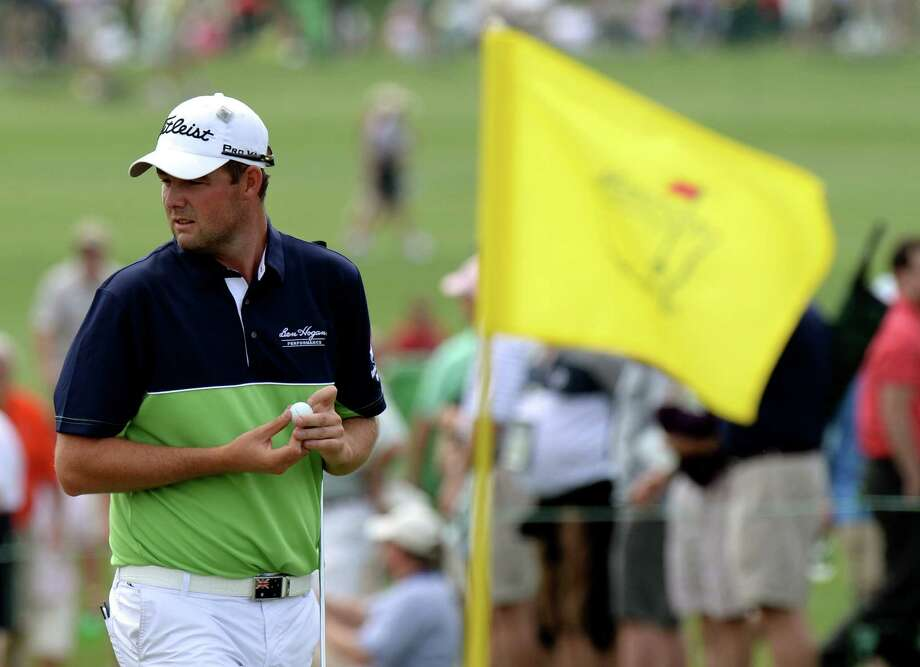 Marc Leishman of Australia during the first round of the 77th Masters golf tournament at Augusta National Golf Club on April 11, 2013 in Augusta, Georgia.    AFP PHOTO /  DON EMMERTDON EMMERT/AFP/Getty Images Photo: DON EMMERT, AFP/Getty Images / AFP