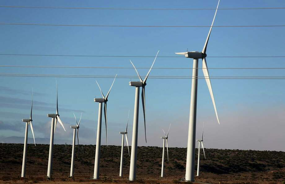 Wind energy, generated by turbines such as these in Rosamond, Calif., is the nation's most promising form of sustainable power. But short-term commitments to a tax credit that is critical to wind power's success makes its long-term future unclear. Photo: File Photo / NYTNS