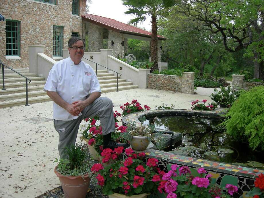 Executive Chef Michael Bomberg of Spice of Life Catering stands in the courtyard of The Veranda, a new event venue in Castle Hills that was formerly The Lodge Restaurant. Photo: Stefanie Arias / San Antonio Express-News