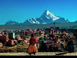 No. 140 BOLIVIA  (score: 4.1)   Source :  World Economic Forum\'s Travel & Tourism Competitiveness Report 2013    Pictured : Snow-capped Mount Huayna Potosi rises above the high-altitude city of El Alto.