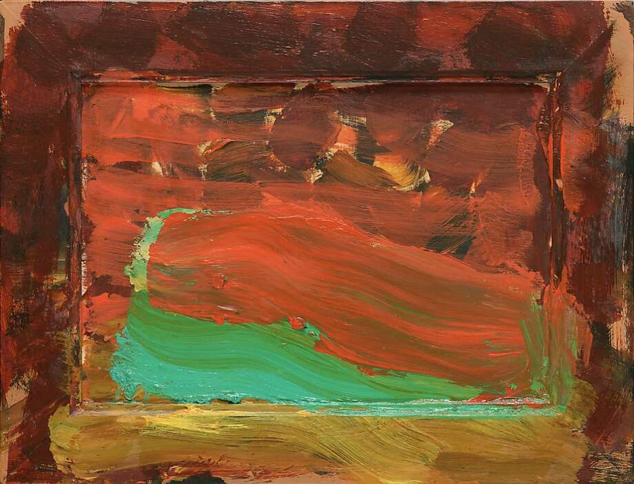 "Howard Hodgkin's ""Strictly Personal"" (2004-06), oil on wood, has a three-year creation period but looks remarkably fresh, as if he had dashed it off in a day. Photo: Unknown"