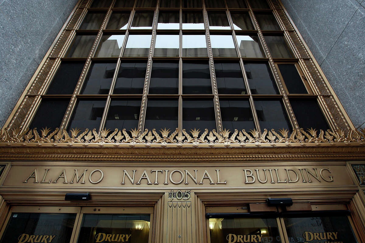 While the Drury Plaza Hotel Riverwalk at 105 South St. Mary's was formerly the Alamo National Bank building, it is not the original bank building.