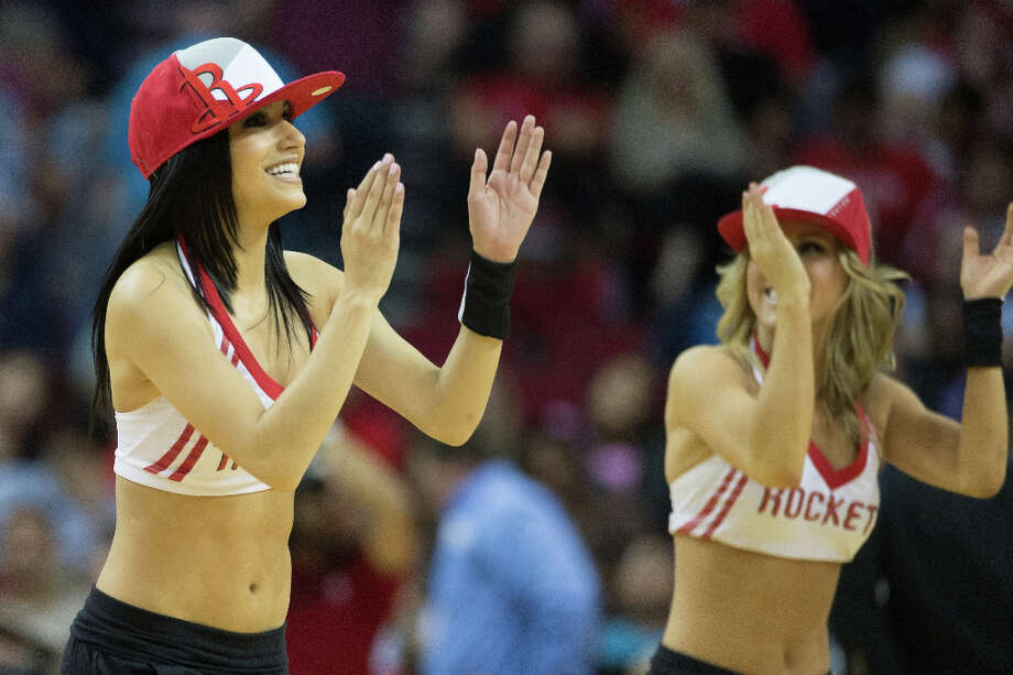 The Rockets Power Dancers perform during a basketball game between the Houston Rockets and the Phoenix Suns at Toyota Center on Tuesday, April 9, 2013, in Houston. Photo: Smiley N. Pool, Houston Chronicle / © 2013  Houston Chronicle