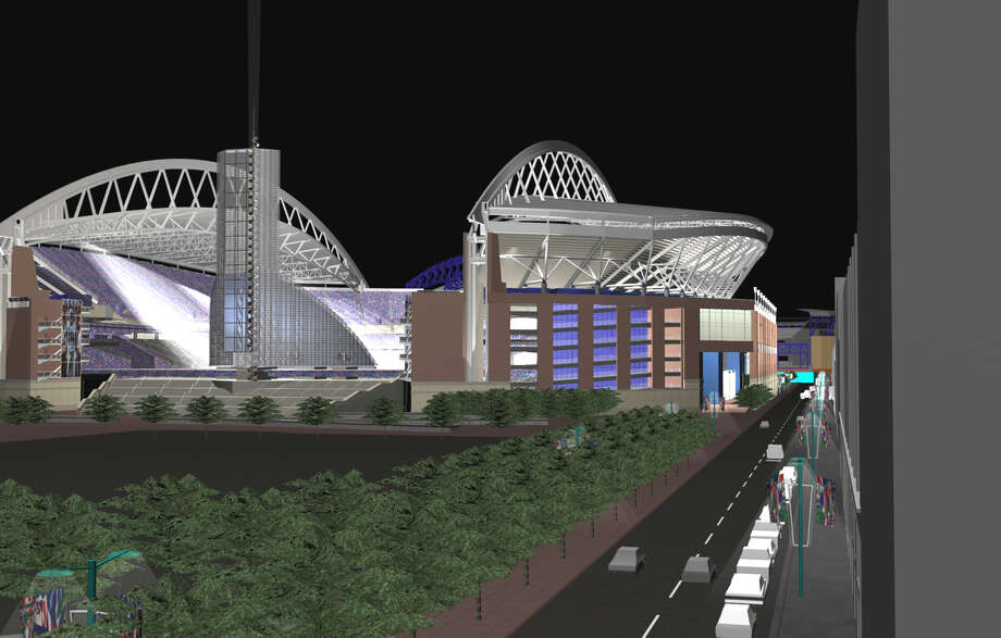 An artist's conception of the new Seahawks Stadium as of Nov. 23, 1998. Photo: HANDOUT, Seattlepi.com File