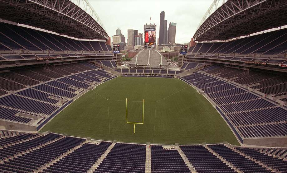 Seahawks Stadium is seen looking north from the south end on June 27, 2002. Photo: Phil H. Webber, Seattlepi.com File