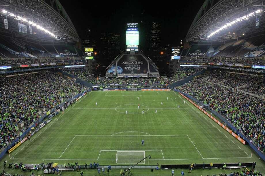 A general view of the stadium during a game between the Seattle Sounders FC and the Los Angeles Galaxy on March 15, 2011, when it was Qwest Field. Photo: Otto Greule Jr., Getty Images / 2011 Getty Images