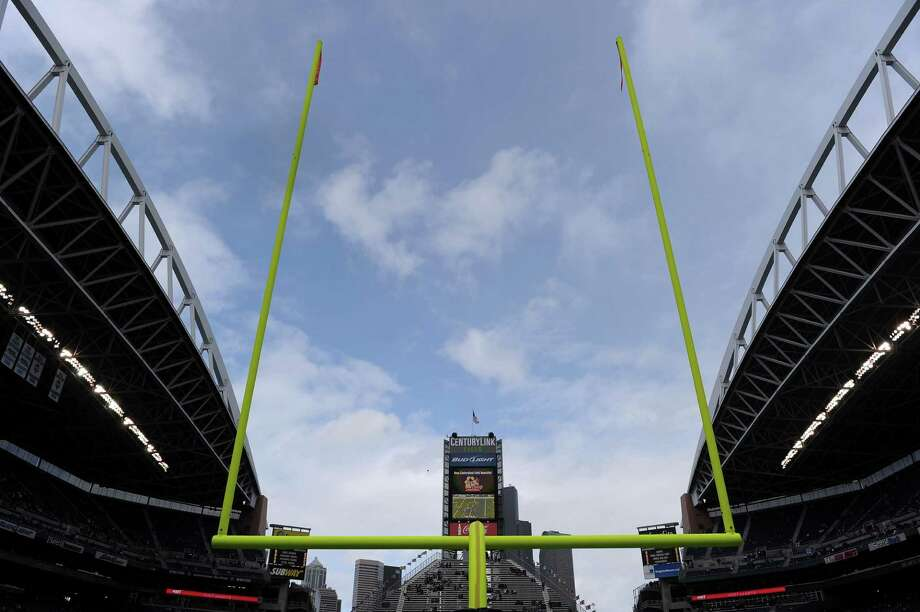 A goal post at CenturyLink Field on Sept. 25, 2011. Photo: Harry How, Getty Images / 2011 Getty Images