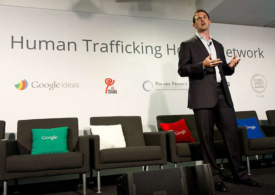 Jared Cohen, director of Google Ideas, talks about disrupting global human trafficking. Photo: Karen Bleier, AFP/Getty Images