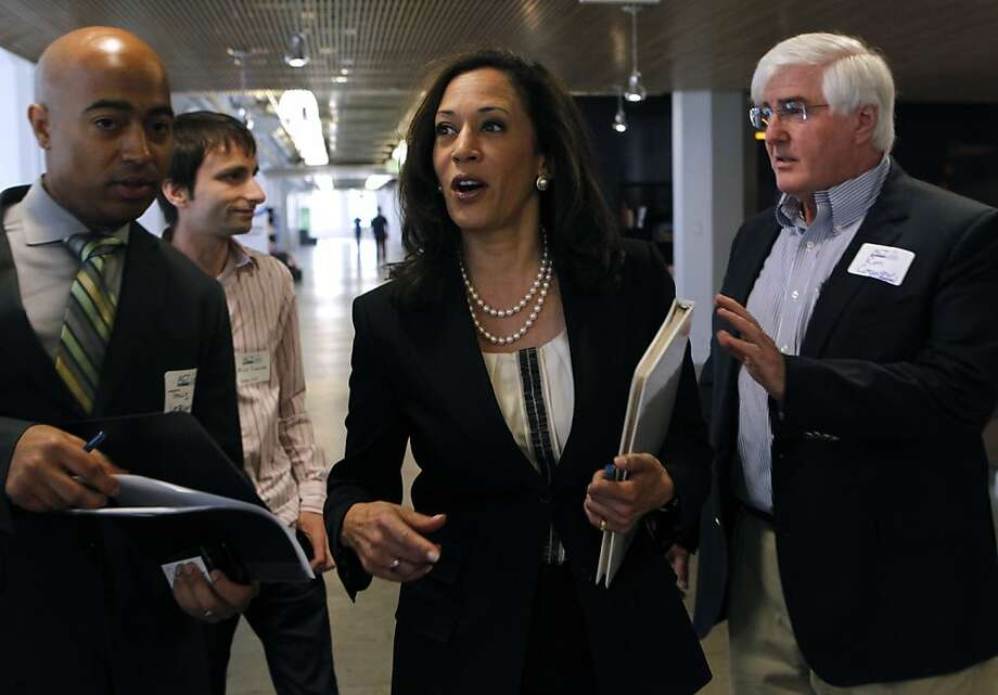 California Attorney General Kamala Harris arrives at last week's Future of Privacy+Innovation conference in S.F. Photo: Paul Chinn, The Chronicle