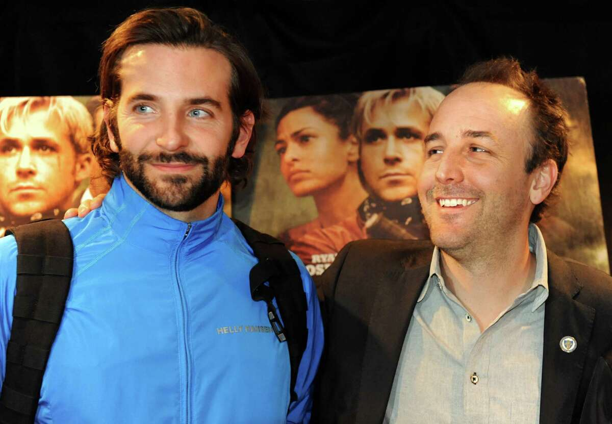 Actor Bradley Cooper, left, and director Derek Cianfrance at the premiere of