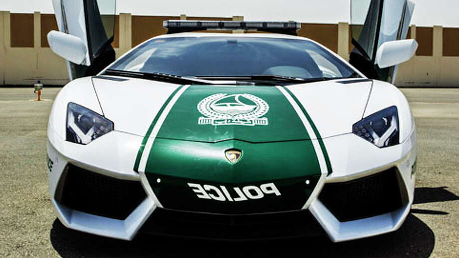 This image released by the Dubai Police, shows a Lamborghini Aventador, in Dubai, United Arab Emirates, Thursday, April 11, 2013. In a city of boundless bling, Dubai police also are in hot pursuit after adding a nearly $550,000 Lamborghini to its fleet. Local media reports Thursday say the Italian-made Lamborghini Aventador is the crown jewel of a wider upgrade in Dubai police wheels. Photo: Uncredited, . / Dubai Police
