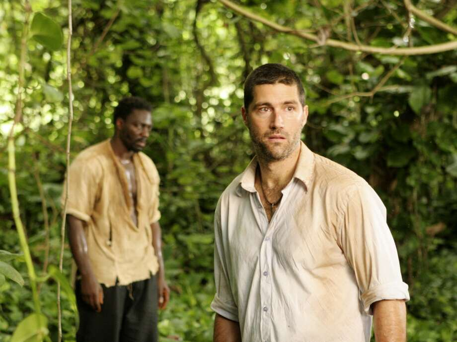\'\'I\'ve got to find the Pearl.\'\' Matthew Fox is pictured with Adewale Akinnuoye-Agbaje as Mr. Eko.