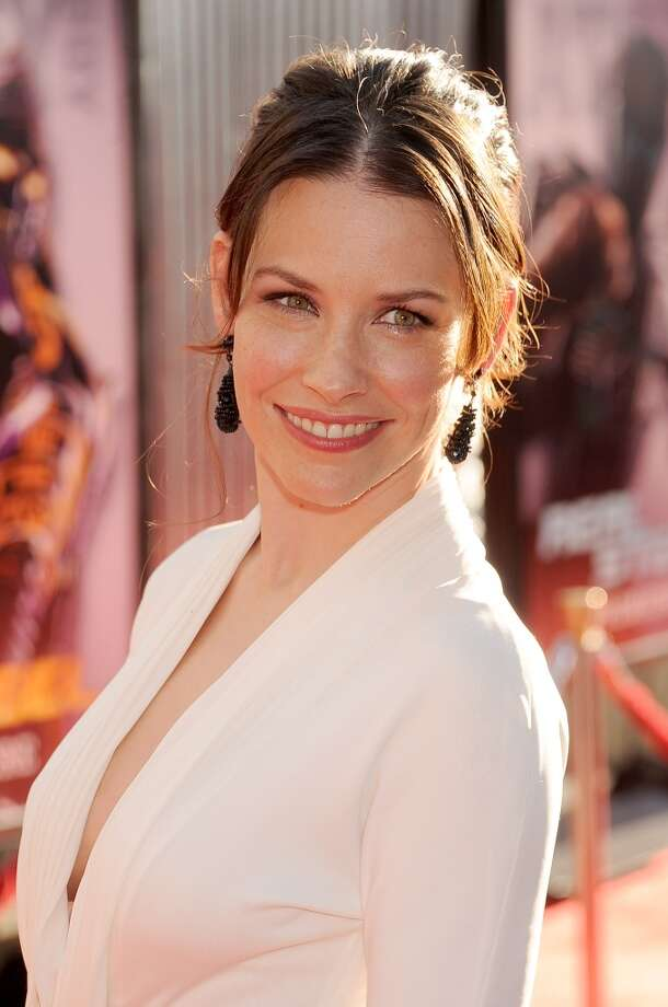 Evangeline Lilly also appeared in the 2011 movie, \'\'Real Steel.\'\' She\'s pictured at the premiere.