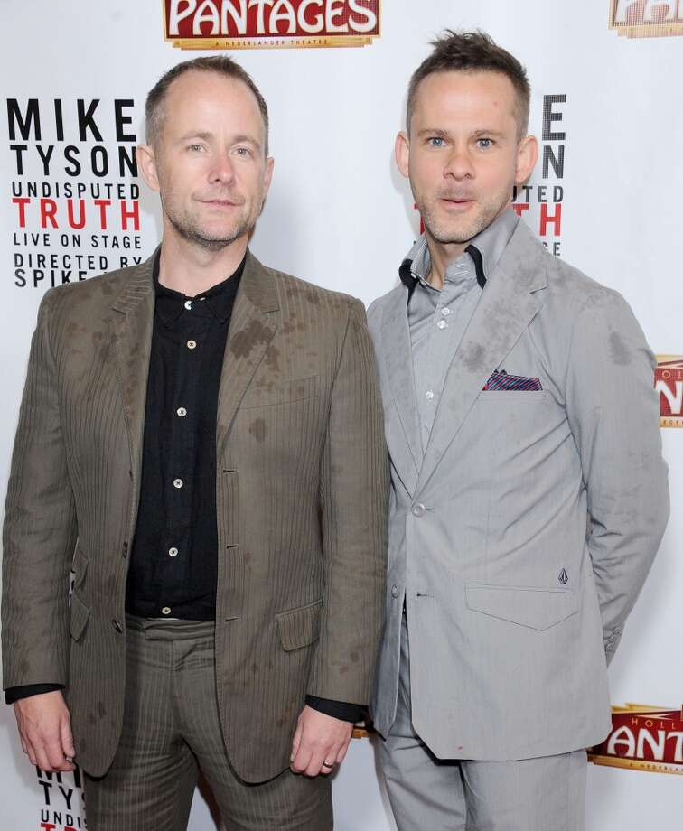 Dominic Monaghan, right, was in the short-lived show \'\'FlashForward.\'\' He\'s pictured in 2013 with \'\'Lord of the Rings\'\' co-star Billy Boyd, left, at the opening night of \'\'Mike Tyson – Undisputed Truth\'\' in Hollywood.