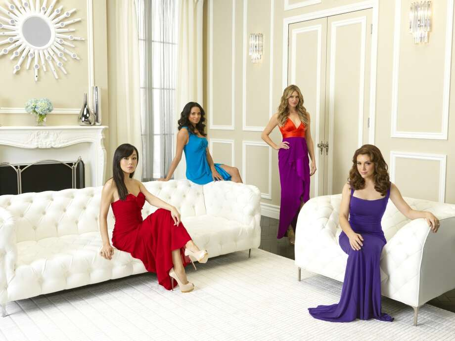 \'\'Mistresses\'\' is based on a British series of the same name, starring (from l to r): Yunjin Kim, Rochell Aytes, Jes Maccallan and Alyssa Milano.