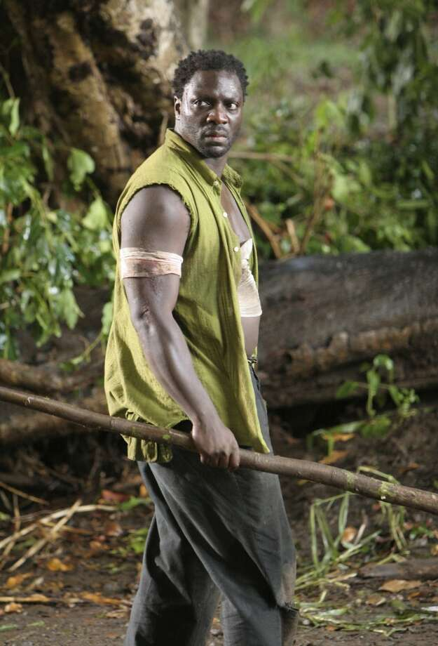 Adewale Akinnuoye-Agbaje played Mr. Eko, pictured here wrestling with demons from his past on \'\'Lost.\'\'