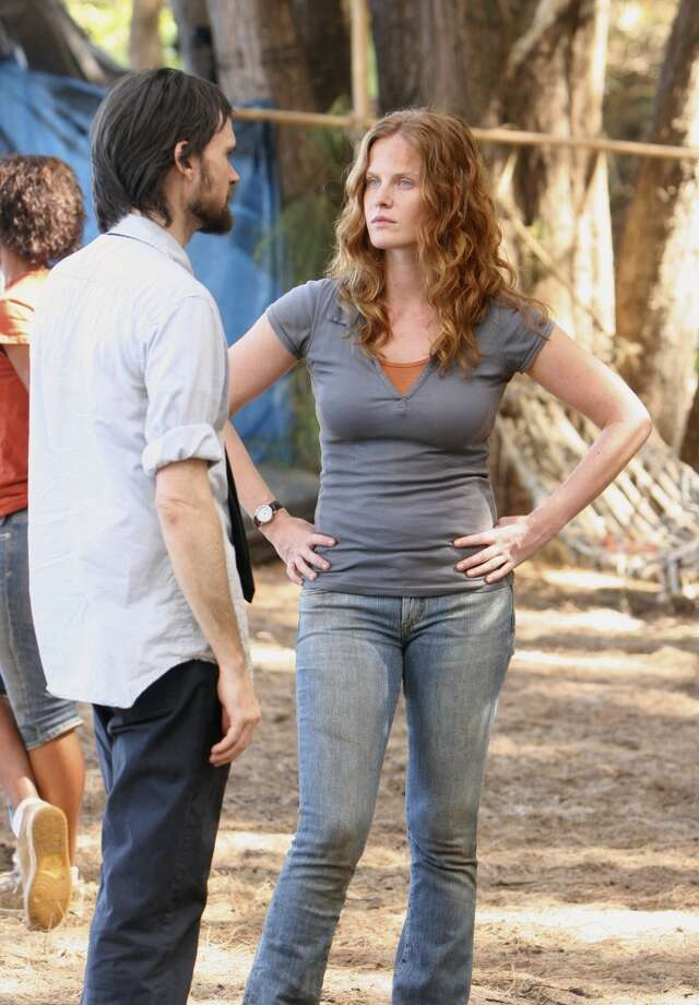 Rebecca Mader, right, as Charlotte.