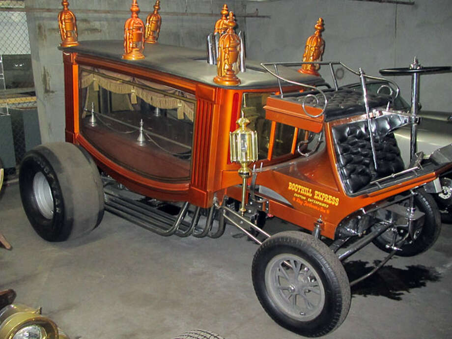 """1967 """"Boothill Express"""" Hot RodThe late 1960s hot-rodders created some loony show cars. Ray Fahmer built some of the wildest ones, like the Boothill Express. It's essentially a hot-rodded funeral coach from the 1800s. And it gets its name because the coach upon which it is based reportedly carried a James Gang member to his resting place at the Boothill graveyard in Tombstone, Ariz.The supercharged Chrysler 462 Hemi V-8 sits right in the center of the vehicle and expels exhaust through eight pipes routed underneath the rear axle. And like many of the wildest hot rods of the 1960s, Boothill Express was immortalized as a Monogram model kit for kids.Read more about the cars on Popular Mechanics Photo: Popular Mechanics"""