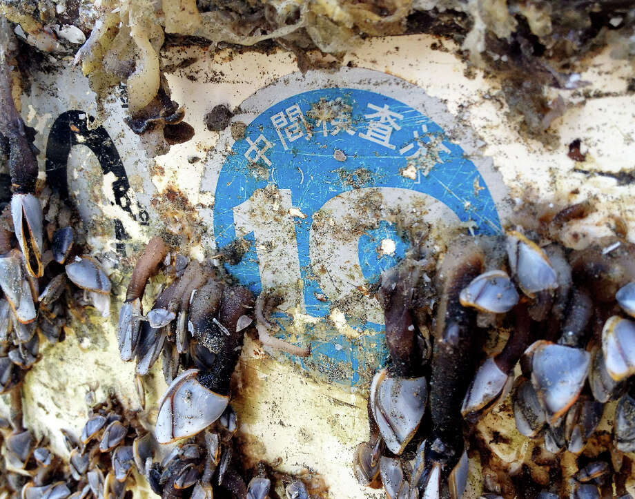This is an image of a decal found on a fishing boat that washed ashore on a Crescent City beach Sunday that is quite likely the first piece of confirmed debris from the 2011 Japanese tsunami to reach the California coast. Photo: Lori A. Dengler / ONLINE_CHECK
