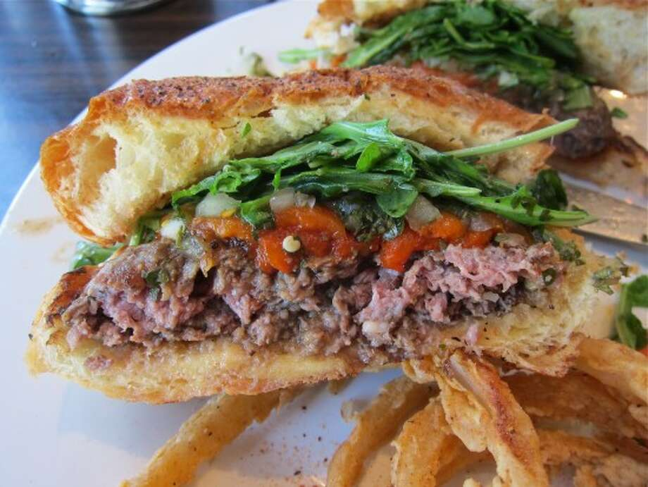 Check out the El Gaucho Burger at Gratifi (above), or try one of these other Houston restaurants featured on the Food Network. Photo: Alison Cook