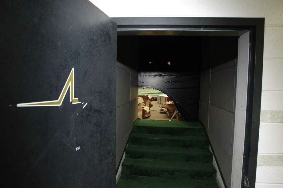 A doorway that once lead to the Astros dugout is shown inside of Reliant Astrodome Tuesday, April 3, 2012, in Houston. Photo: Melissa Phillip, Houston Chronicle / © 2012 Houston Chronicle