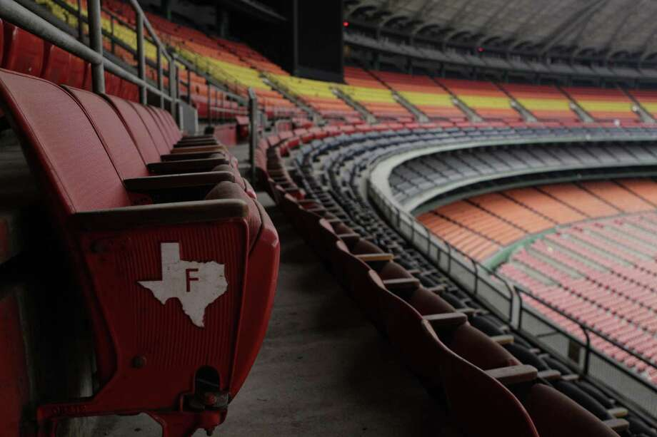 View of stadium seating seen from inside the Reliant Astrodome Tuesday, April 3, 2012, in Houston. Photo: Melissa Phillip, Houston Chronicle / © 2012 Houston Chronicle