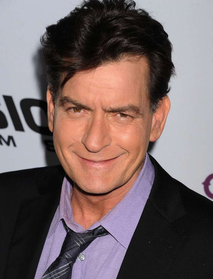 Actor Charlie Sheen arrives at the \'Scary Movie V\' Los Angeles premiere atArcLight Cinemas Cinerama Dome on April 11, 2013 in Hollywood, California. (Photo by Jeffrey Mayer/WireImage)
