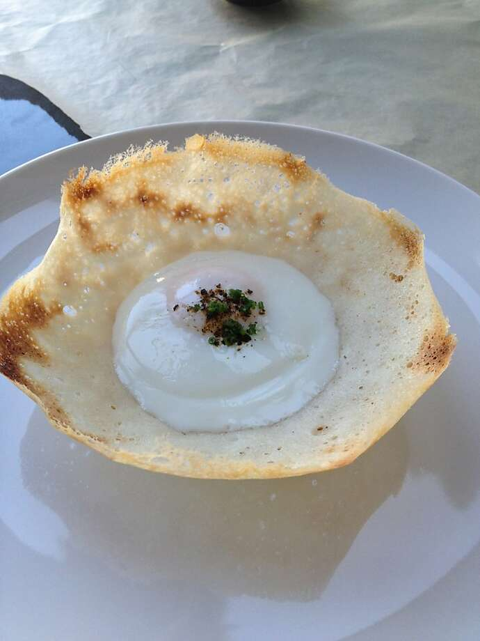 An upscale version of the egg hopper, a traditional recipe, is one of the dishes at 1601 Bar & Kitchen. Photo: 1601 Bar & Kitchen