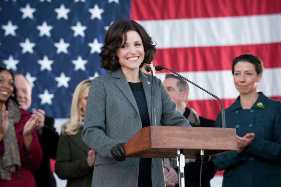 "Vice President Selina Meyers (Julia Louis-Dreyfus) and her incompetent staff are on the campaign trail as the bitingly funny political satire ""Veep"" returns at 9 p.m. Sunday on HBO. Photo: HANDOUT, HO / MCT"