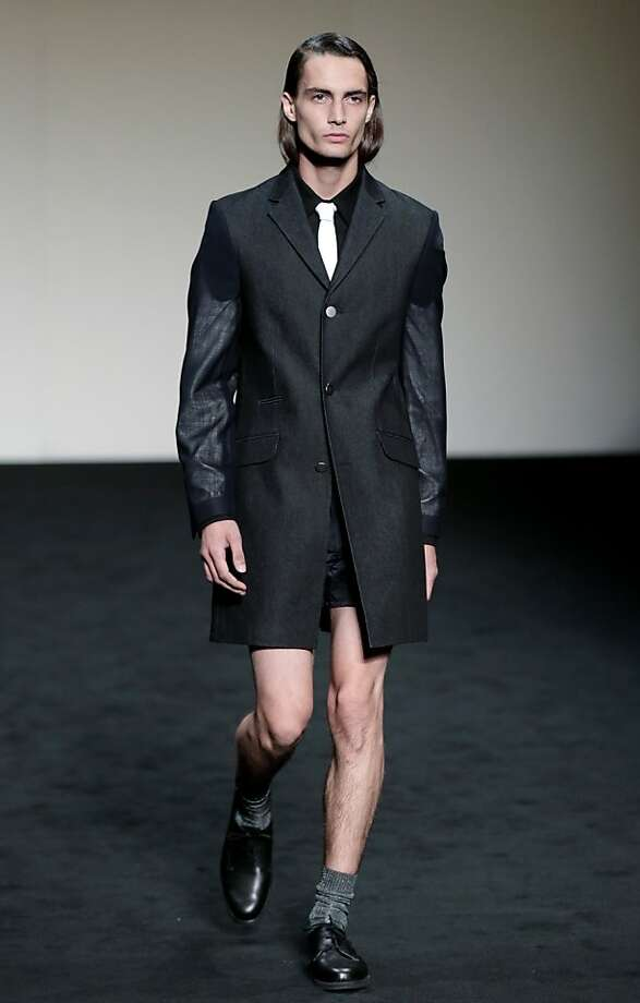 Forget something? By the way, Tim Lincecum wants his hair back. (Zambesi collection, Sydney Fashion Week.) Photo: Rick Rycroft, Associated Press
