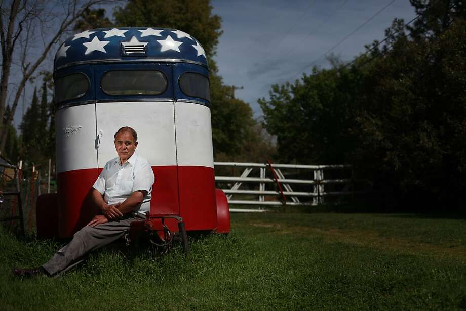 "Ted Costa, whose DavisRecall. com started the ball rolling, sits outside his Citrus Heights home and recalls: ""All the ingredients were there."" Photo: Mike Kepka, The Chronicle"