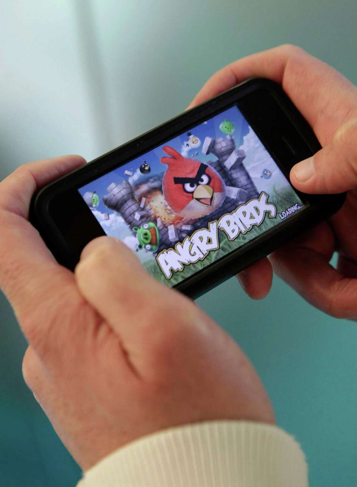 """The """"Angry Birds'' mobile-phone game is perfect for busy parents who need to feed the gaming urge."""