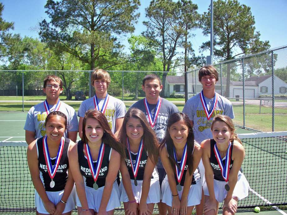The Nederland tennis team won the District 20-4A championship and has advanced to the regional championship on April 16-17 in Willis, Texas Photo: Nederland Tennis