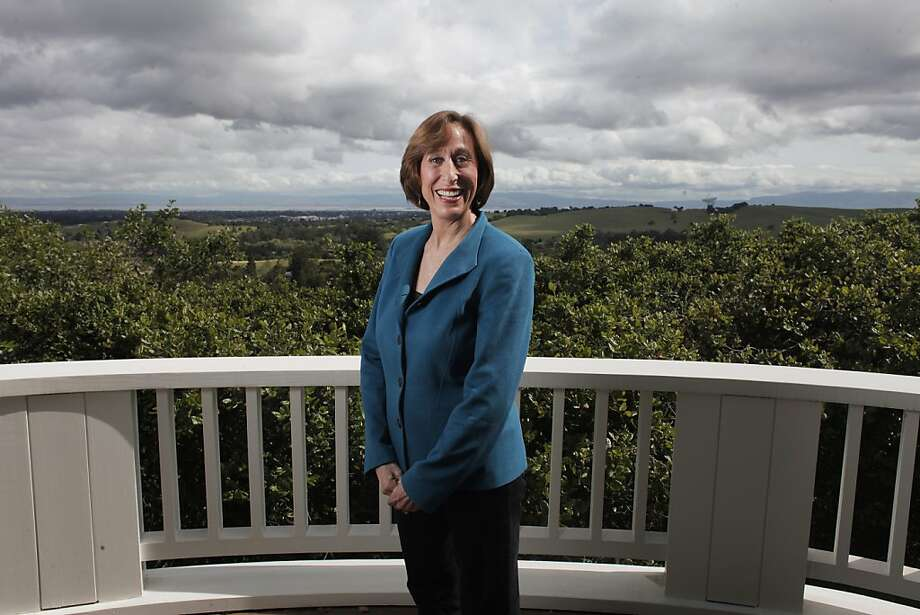 "Stanford Professor Tina Seelig, at her Portola Valley home: ""People assume creativity is innate."" She says it can be taught. Photo: James Tensuan, The Chronicle"