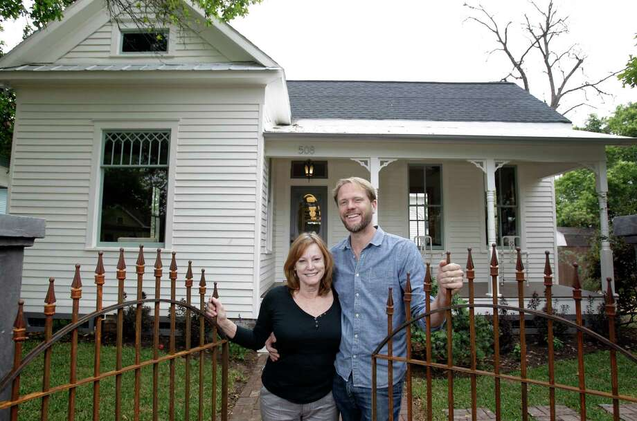 Kay and Anthony Harnden are selling the 1900 Victorian they refurbished in the Brooke Smith neighborhood. Photo: Melissa Phillip, Staff / © 2013  Houston Chronicle
