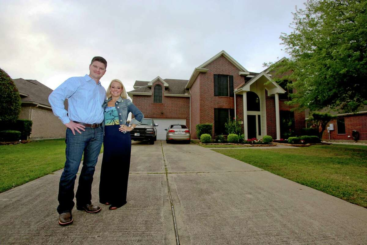 Nathan Cloutier and Christina Aten have a home in Pearland. Other houses went under contract before he could even look at them.