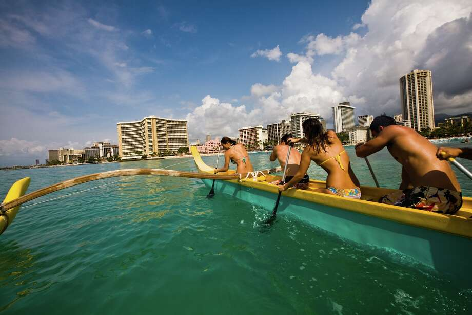 Outrigger canoeing is one of the safest water sports and a tradition in Oahu.