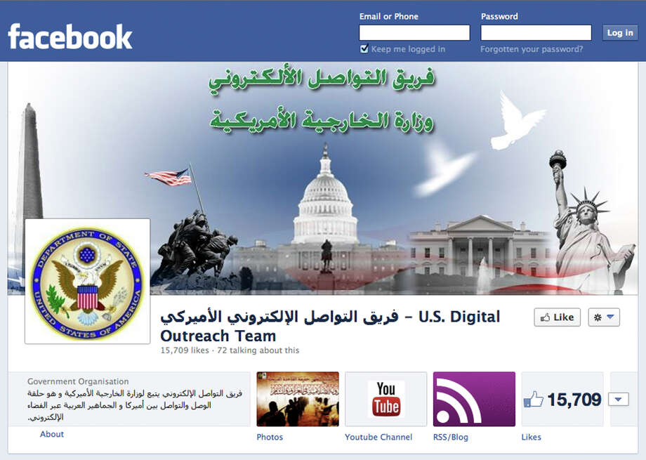 This image shows the Facebook page of the U.S. Digital Outreach Team, a group whose goal is to contest space that had previously been ceded to extremists. Photo: HOPD / /U.S. Digital Outreach Team)