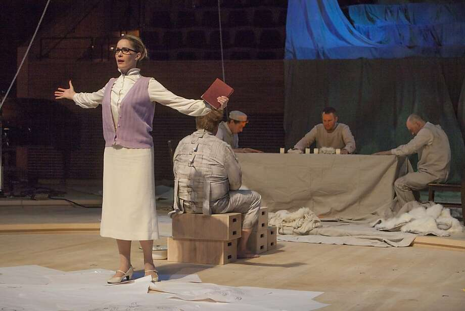 "Soprano Heather Buck sings in Jonathan Berger's opera ""Theotokia."" Photo: Joel Simon"