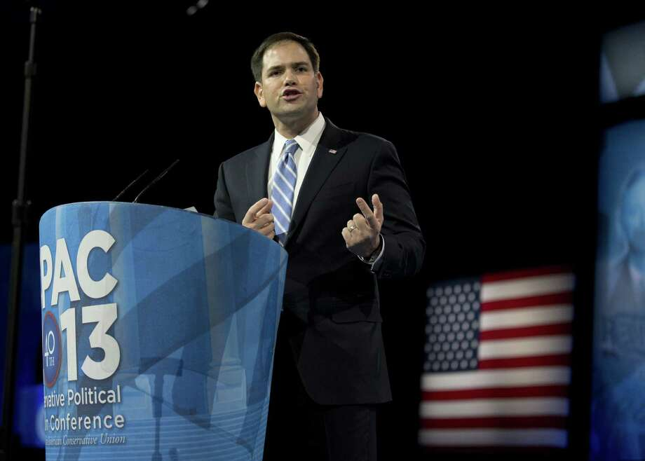 A reader takes issue with a recent column that praised Sen. Marco Rubio, R-Fla., shown here speaking at the Conservative Political Action Conference in National Harbor, Md. Photo: Manuel Balce Ceneta, Associated Press