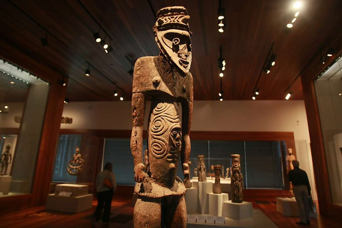 The M.H. de Young Memorial Museum's Jolika Collection includes this male figure made by the Biwat people, dated between 1280 and 1400.